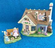 Dept 56 Easter Snow Village Chocolate Bunny Factory Set Of 2 55355