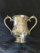 Howard And Co C1896 New York Sterling Loving Christmas Cup 7 1/2 Tall 10 Wide