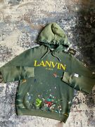 Lanvin X Gallery Dept Hoodie - Green Exclusive Painted - Size L - Rare