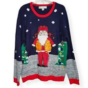 Jolly Sweaters Holiday Sweater Santa Pullover Unisex Ugly Christmas Sweater Xl