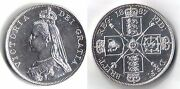 Victoria Silver Double Florin Coin 1887 Proof Like