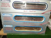 6 Williams 80ft Broadway Limited Extruded Aluminum Passenger Cars Ob's
