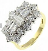 18ct Yellow Gold Boat Baguette Cluster Ring 3.75ct Of Diamonds. Rrp Andpound19999
