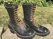 Whiteand039s Boots Black Leather Smokejumper 10-inch Work Boots Size 7.5 D Pre-owned