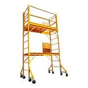 12 Ft Build Master Scaffolding W/hatch Platforms, Guard Rail And Outriggers Sets