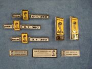1967 Ford Mustang Shelby Gt350 Emblem Kit Data Tag