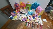 Huge Disney Princess Magiclip Lot With Dolls And Dresses Castle Playsets Magic