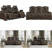 Signature Design By Ashley - Game Zone Contemporary Faux Leather Power Reclining