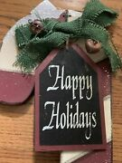Unique Design Happy Holidays Christmas Candy Cane Yard Stake Decorations 3ft