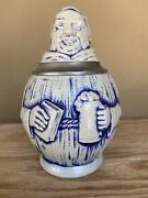 Antique German Figural Character Beer Stein Monk By S.p. Cerz C. 1860s