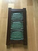 Mitchell Andrus Green W Sayings Motawi Pottery Tryptich Tiles In Arts And Crafts