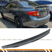 For 09-13 Toyota Corolla Carbon Look Jdm Duck Tail Duckbill Trunk Spoiler Wing