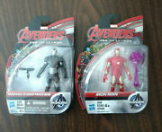 Lot Of 2 Avengers Age Of Ultron Action Figures Iron Man War Machine New On Card