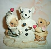 Enesco Mouse Tales In The Meadow We Can Build A Snowman Figurine