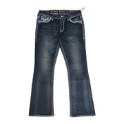 New Authentic Women Rock Revival Easy Bootcut Jeans Glade E202 Msrp 159