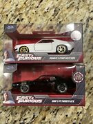 New 2020 Fast And Furious Roman's Ford Mustang + Dom's Plymouth Gtx Die-cast 132