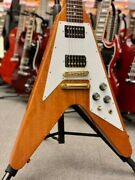 Gibson Flying V Reissue 2016 Limited Proprietary Natural W/ Gold Hardware U1380
