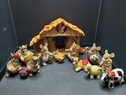 Charming Tails Nativity Lot Christmas Pageant 3 Wise Mice Holy Family Players