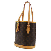 Louis Vuitton Bucket Pm Used Shoulder Tote Bag M42238 France Vintage Auth Ae87