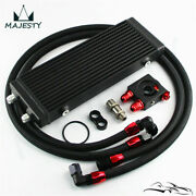 Medium 14 Dual Pass Bar And Plate Oil Cooler Thermostatic Filter Adapter Hose Kit