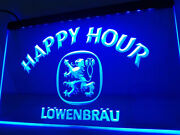 Lowenbrau Happy Hour Beer Led Neon Light Sign Home Room Gift Decore Size 12 X 8