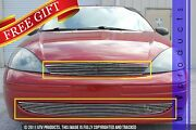Gtg 2001 - 2004 Ford Focus 2pc Polished Replacement Billet Grille Grill Kit