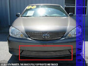 Gtg 2005 2006 Toyota Camry 1pc Polished Overlay Bumper Billet Grille Grill