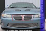 Gtg 2004 - 2006 Pontiac Gto 2pc Polished Upper Replacement Billet Grille Kit