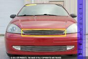 Gtg 2001 - 2004 Ford Focus 1pc Polished Upper Replacement Billet Grille Grill
