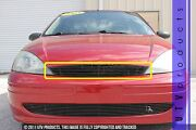 Gtg 2001 - 2004 Ford Focus 1pc Gloss Black Upper Replacement Billet Grille Grill