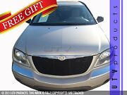 Gtg 2004-06 Chrysler Pacifica 2pc Gloss Black Replacement Billet Grille Grill