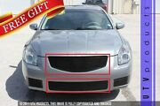 Gtg Gloss Black 2pc Replacement Billet Grille Kit Fits 2007 - 2008 Nissan Maxima