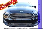 Gtg 2015 - 2018 Ford Focus 2pc Polished Custom Replacement Billet Grille Kit