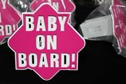Gtg Baby Girl On Board Pink And White Hitch Cover Plug Trailer Receiver Towing