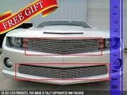 Gtg 2010 - 2013 Chevy Camaro Ss 2pc Polished Overlay Combo Billet Grille Kit