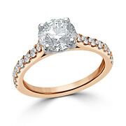 Round 0.98 Ct Real Diamond Engagement Solitaire Ring 18k Rose Gold Size 5 6 7.5