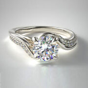 Christmas Sale Real Diamond Ring Round 0.71 Ct 18k Solid White Gold Size 5 6 7 8