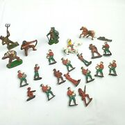 Vintage Lot Lead Metal Military Toy Soldiers Army Men Horses