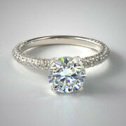 1.58 Carat Solitaire Real Diamond Wedding Rings 14k White Gold Size 5 6 7 8 9