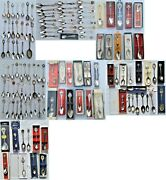 Rare Vintage Lot Of 120+ Souvenir Spoons Small To Large, Tons Of Different Ones