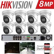 Hikvision 4k 8 Ch Darkfighter 8mp Poe Turret Camera Home Commercial Cctv Systems