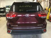 Trunk/hatch/tailgate Rear View Camera Power Lift Fits 17-18 Highlander Maroon