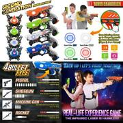 Kidpal Laser Tag, Laser Tag Gun With Vest Set 4 Pack For Family Fun, Lazer Tag G