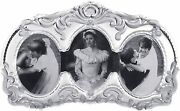 Mikasa Princess Ornate Cut Triple Oval Photo Picture Frame Made In Germany New