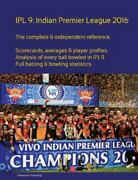Ipl9 Indian Premier League 2016 Paperback By Barclay Simon Like New Used...