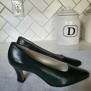 Dolcis 8m Green Genuine Leather Womenand039s Slip On Pumps Dress Shoes - New