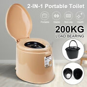 Portable Toilet Seat Travel Camping Outdoor Indoor Potty Commode Large 2 Barrels