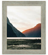 20x11 Grey Barnwood Picture Frame - With Acrylic Front And Foam Board Backing
