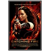 Hunger Games Catching Fire Movie Poster Print Original Design Movie Poster Wall