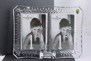 Waterford Crystal Lismore Double 4x6 Picture Frame – New In Box
